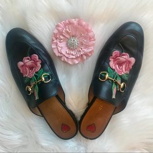 Gucci Bloom Princetown Loafer Mules Slippers